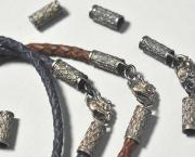 Кожаные плетеные шнуры (гайтан) из кожи Crazy horse